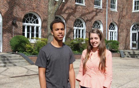 Chaiban '18 and Gaffney '18 prepare to lead the student body this coming school year.