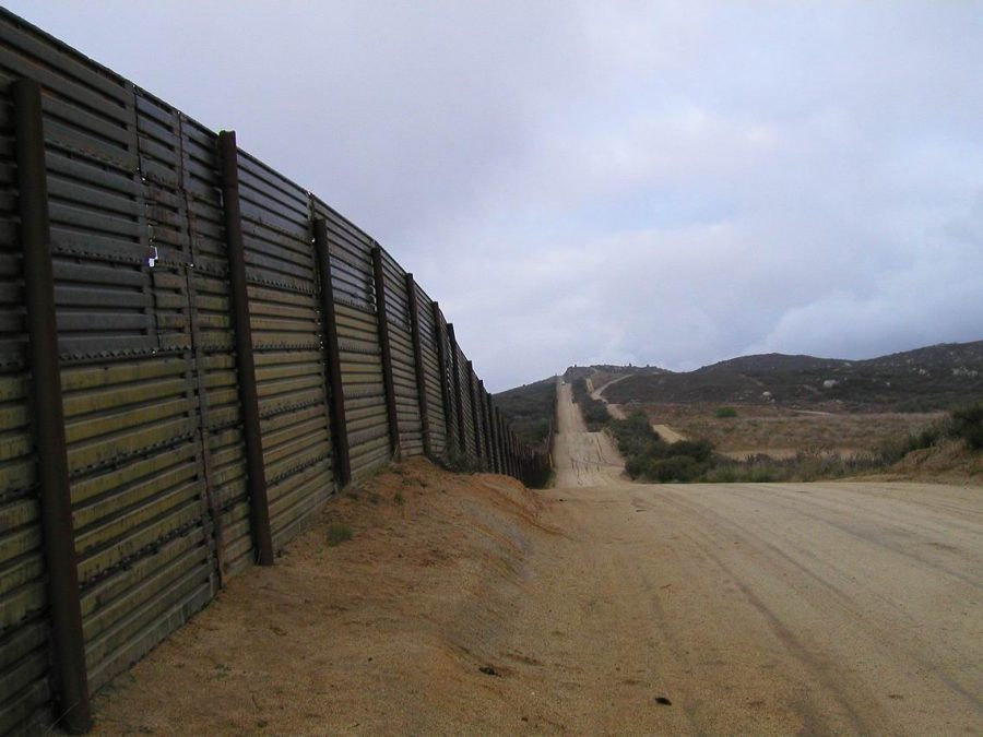 The fence between the United States and Mexico