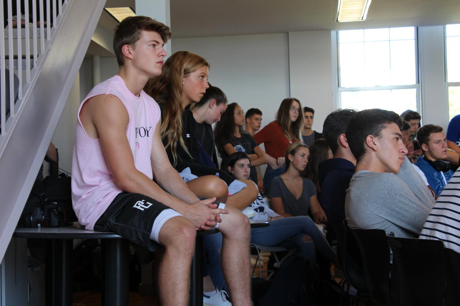 Students gathered in the Student Center last Wednesday to participate in the forum.