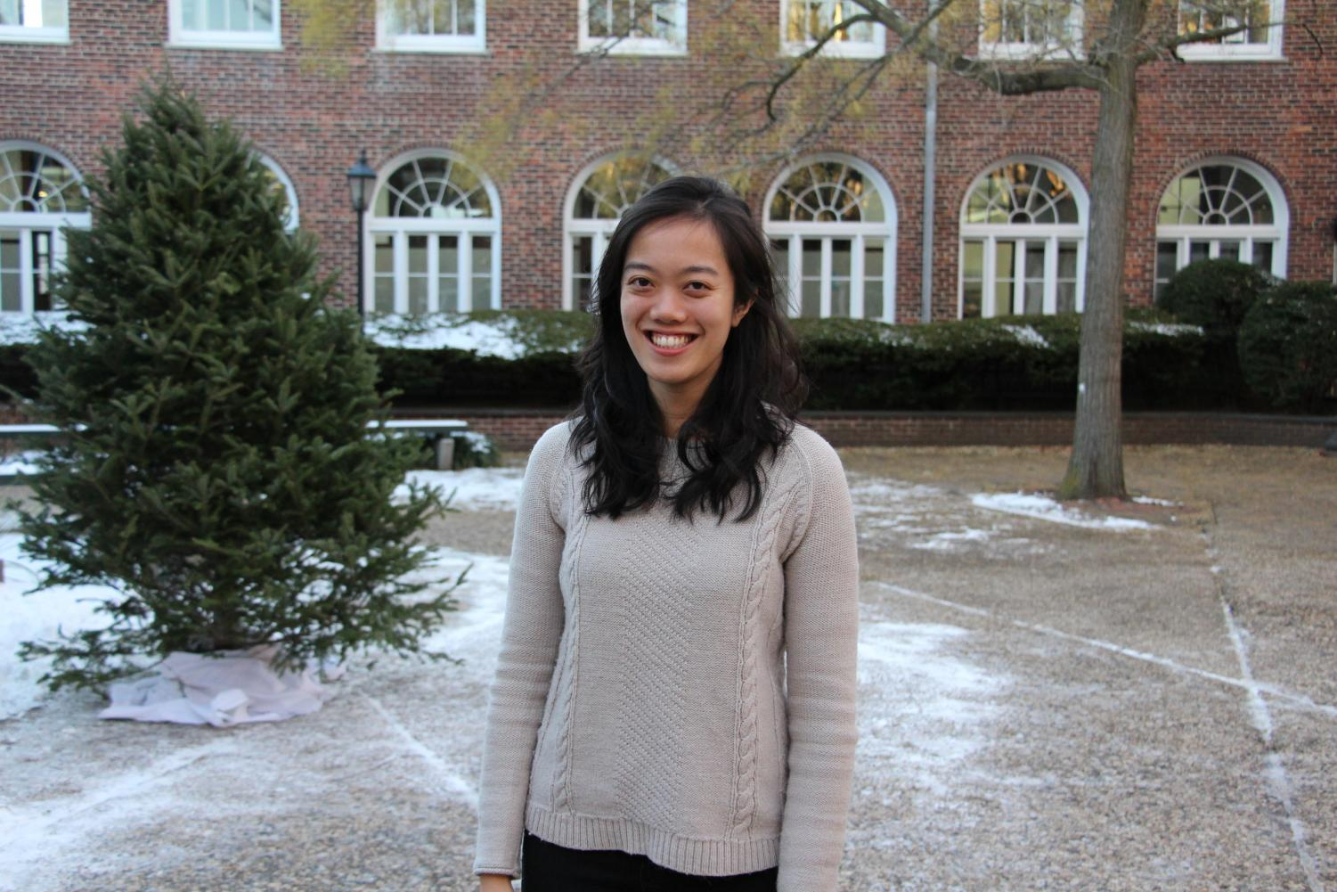 New Upper School Latin Teacher Petra Laohakul in the Quad.
