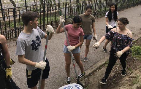 The Freshmen Volunteer for Earth Day