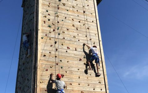 Freshmen Go Rock Climbing at Camp Sloane