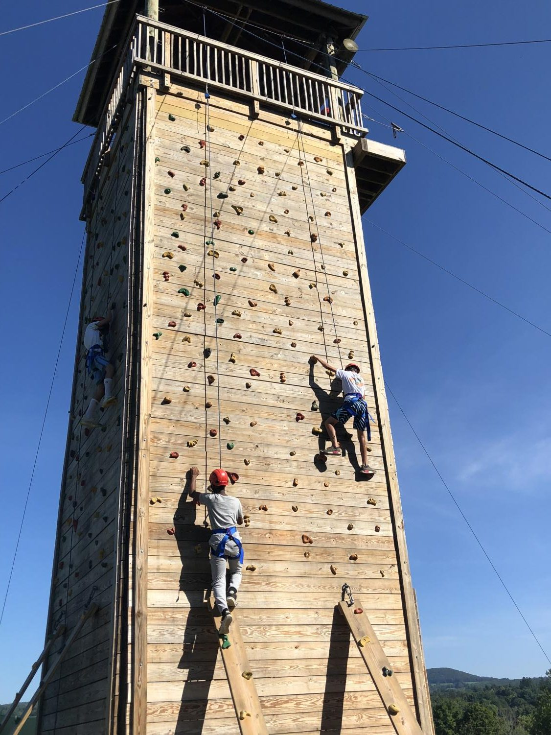 Freshmen Go Rock Climbing at Camp Sloane