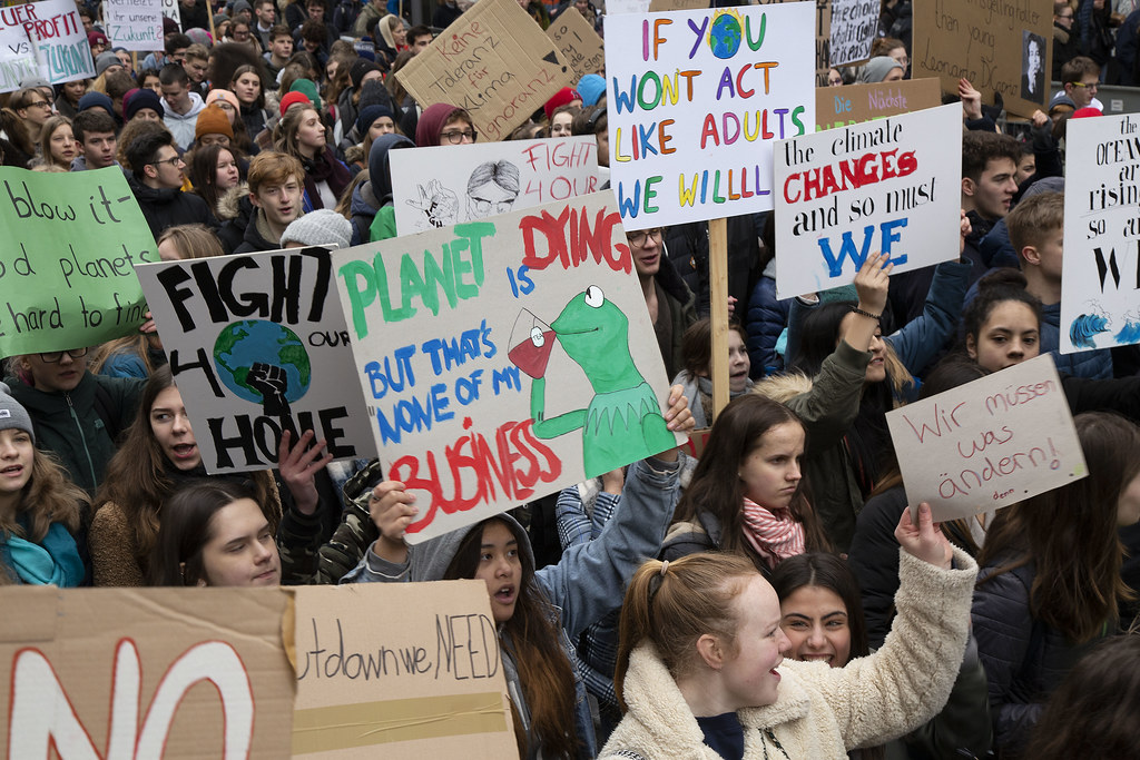 An image taken from a Climate Strike in Hamburg, Germany back in March.