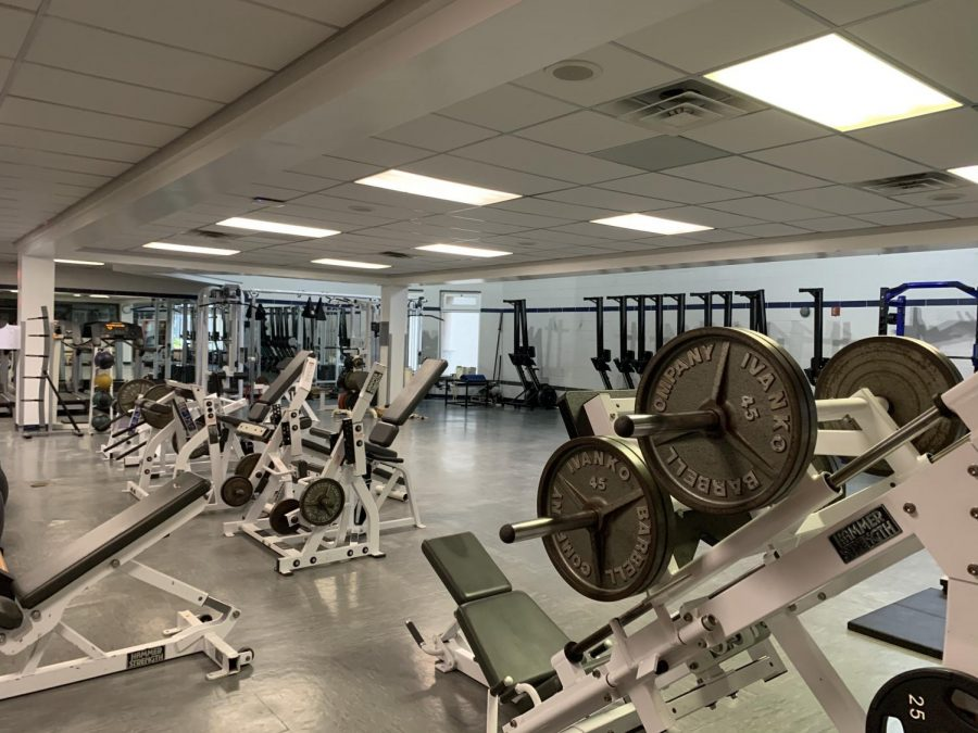 The+Old+Fitness+Center+could+be+turned+into+a+state-of-the-art+training+facility%2C+said+Poly+trainers+John+Pomponio+and+Alyssa+Alaimo.